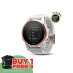 Garmin Fenix 5S - Sapphire Rose Goldtone with White Band