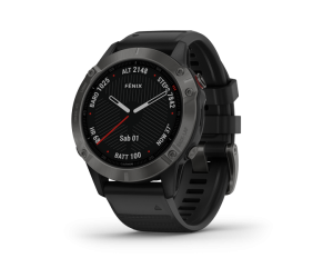 Garmin Fenix 6 - Sapphire Carbon Gray DLC with Black Band