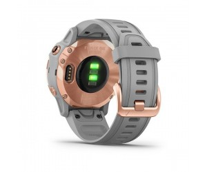 Garmin Fenix 6S - Sapphire Rose Gold-tone with Powder Gray Band